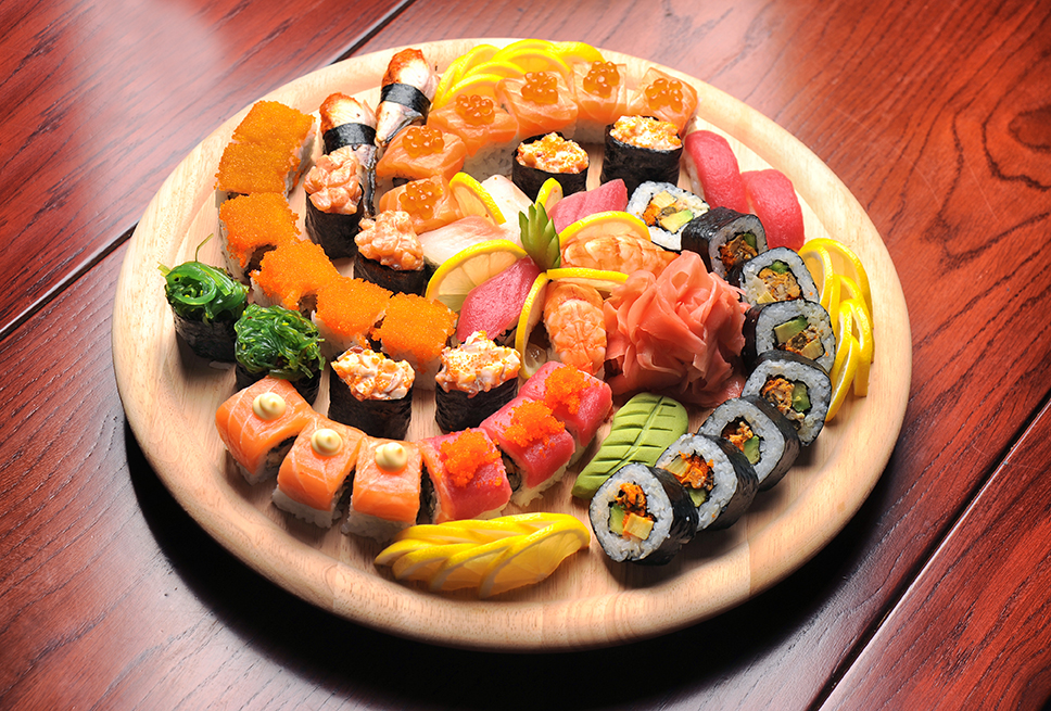 Plate of Sushi (Stock Photo)